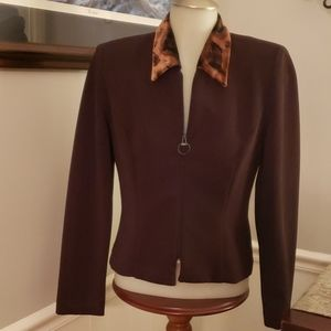 Positive Attitude petite zippered blazer